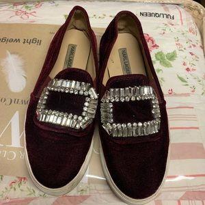 karl lagerfeld Studded Velvet Sneakers size 6.5
